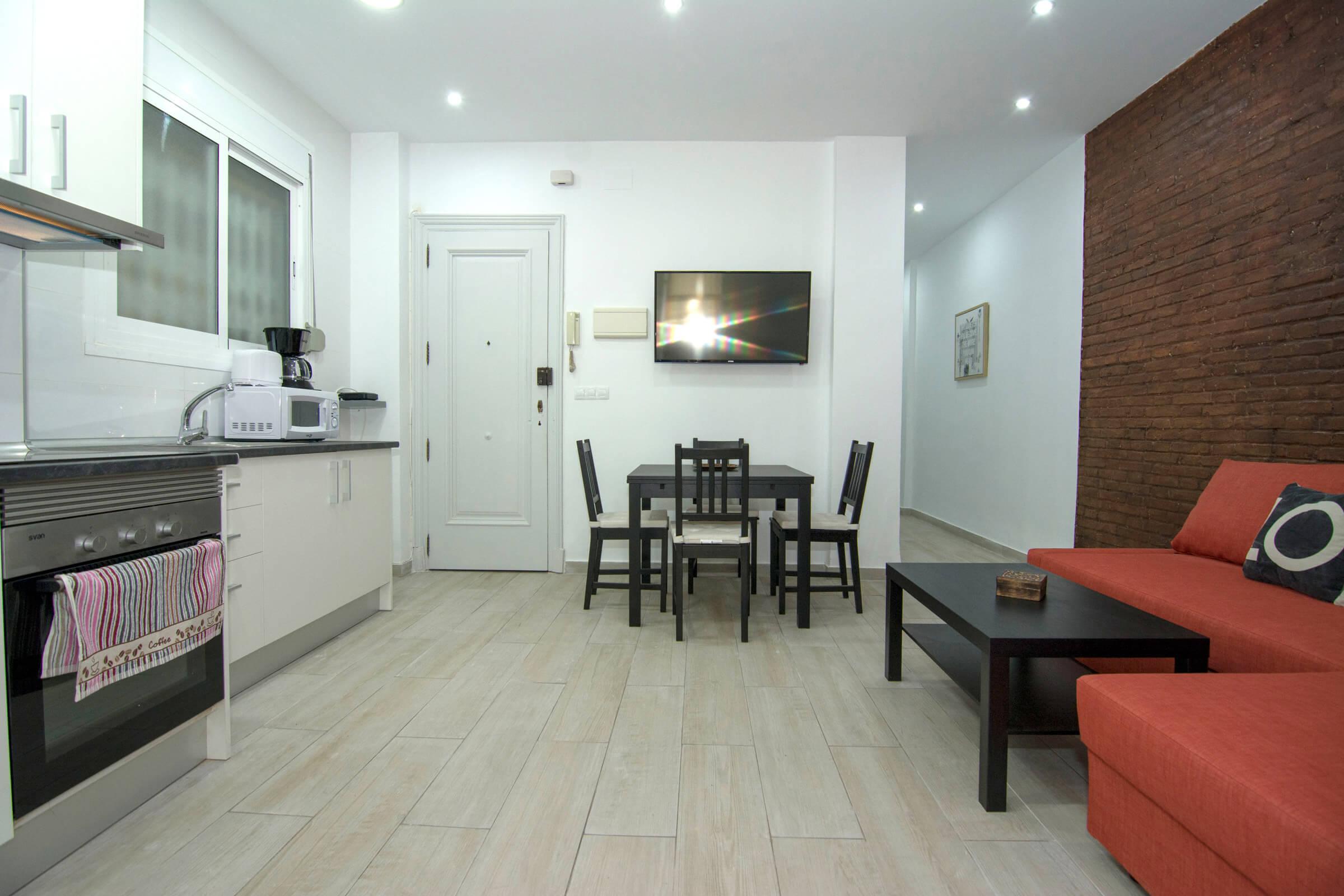 Holaflats Centro Open Plan Living Area