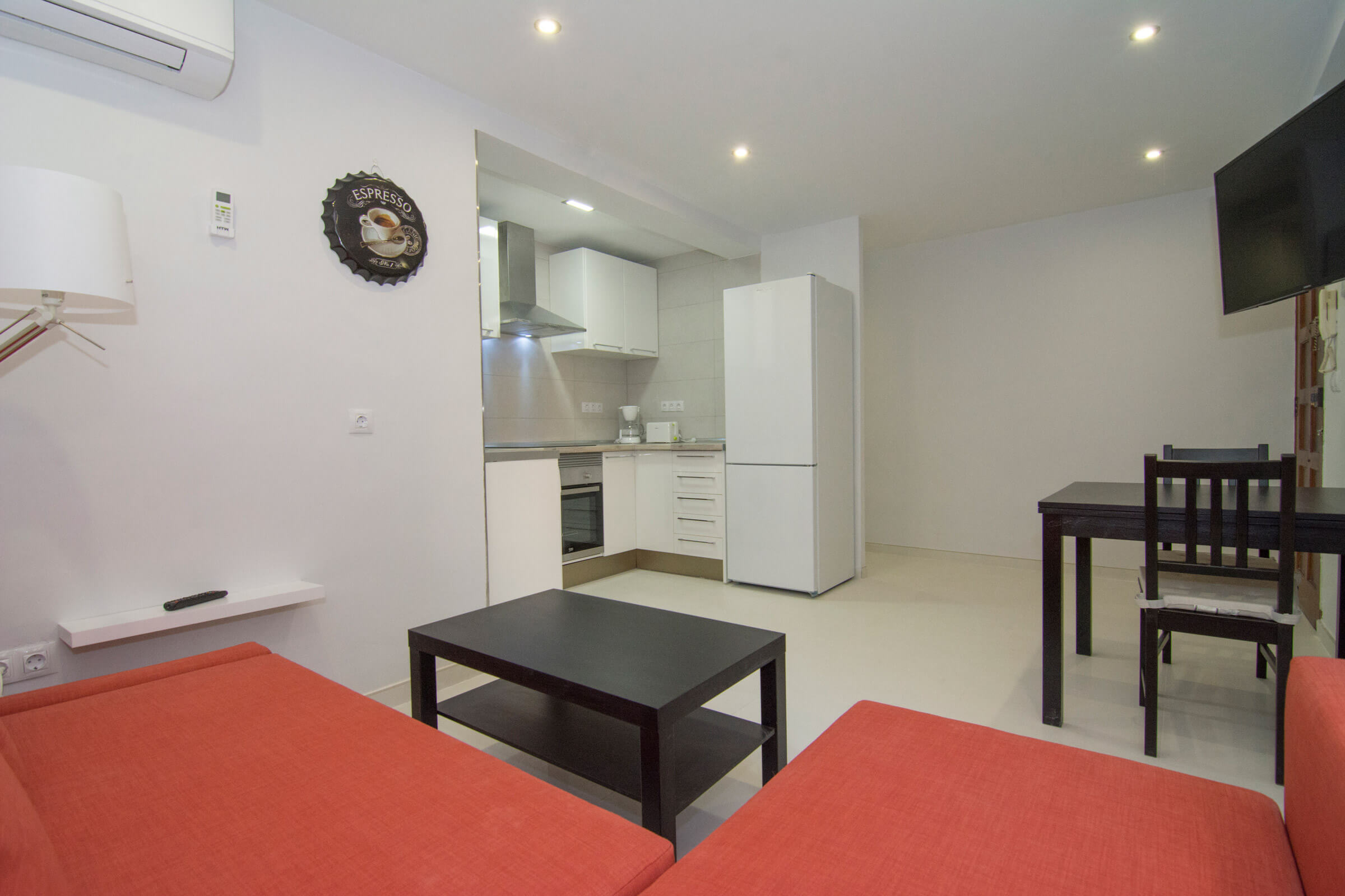 Holaflats open plan living area