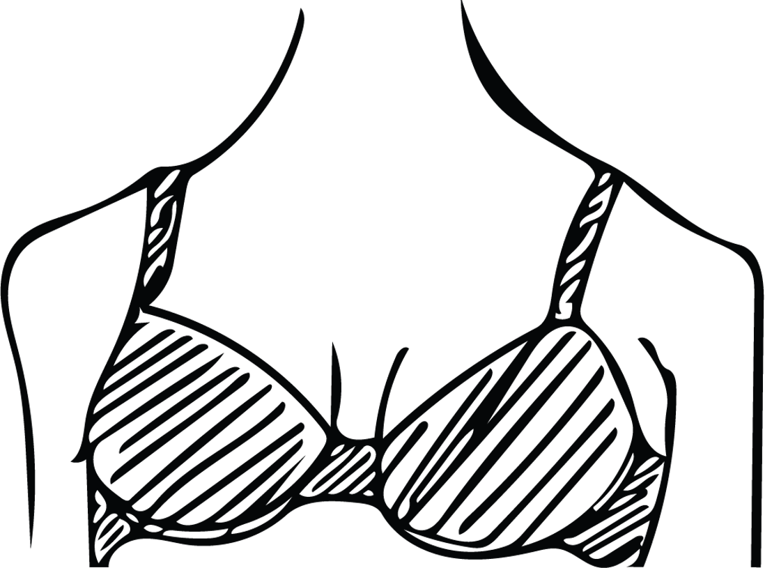 drawing of smart bra