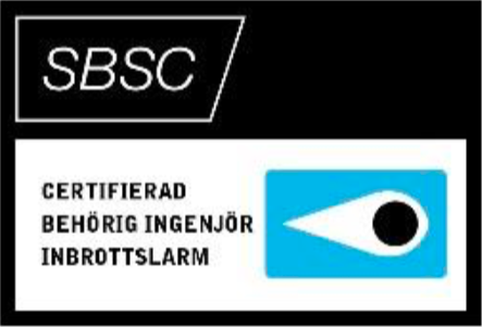 Certifierad behörig ingenjör inbrottslarm
