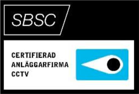 Certifierad anläggarfirma CCTV