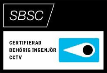Certifierad behörig ingenjör CCTV