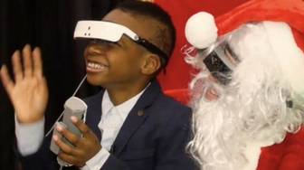 A Legally Blind Boy Experiences a Holiday Miracle