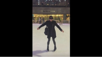 Legally Blind Woman Ice-Skates in NYC