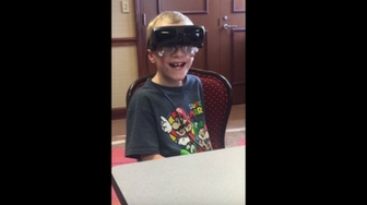 9-Year-Old Boy Sees for the First Time EVER!