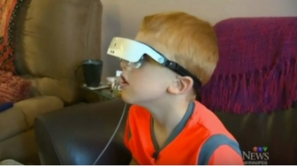 """I am seeing something"" - legally blind seven-year-old gets high-tech glasses"