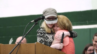 Blind Girl Sees Her Best Friend For The First Time Ever