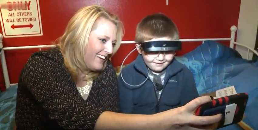 Watch as legally blind boy sees clearly for the first time
