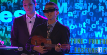 Legally Blind Boy Shocks Audience With Original Song About Sight