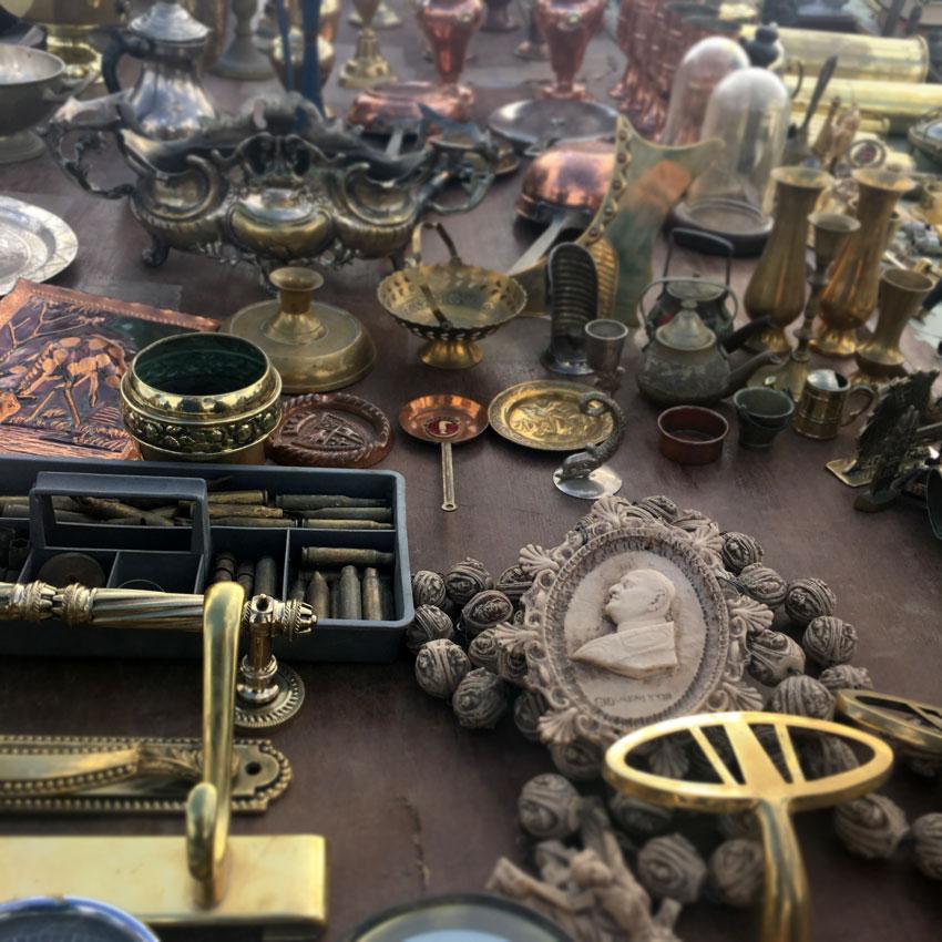 Antiques at the Birgu flea market in Malta