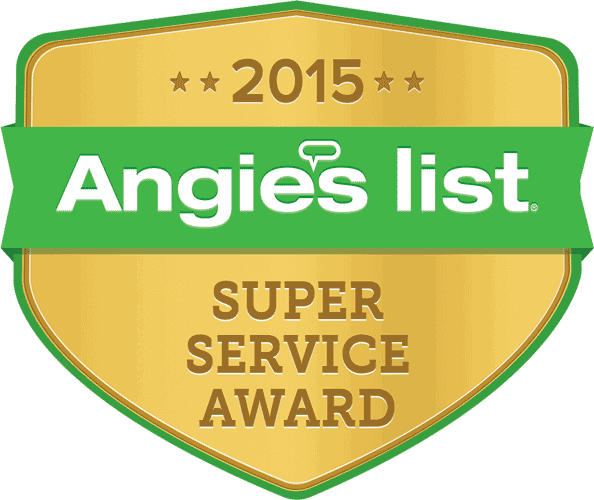 Winner of Angie's List Super Service Award 2015