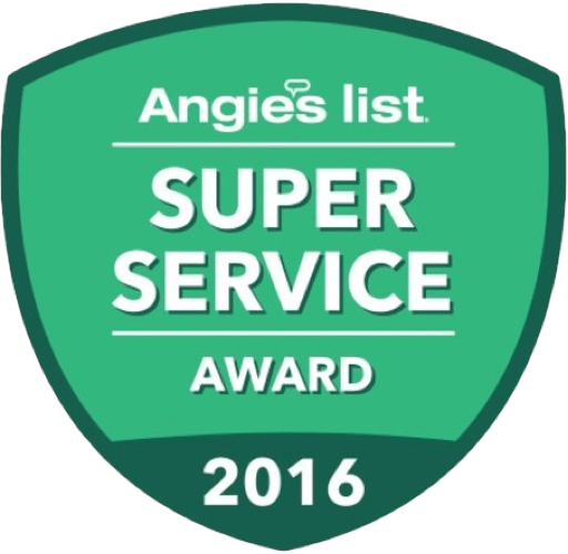Winner of Angie's List Super Service Award 2016