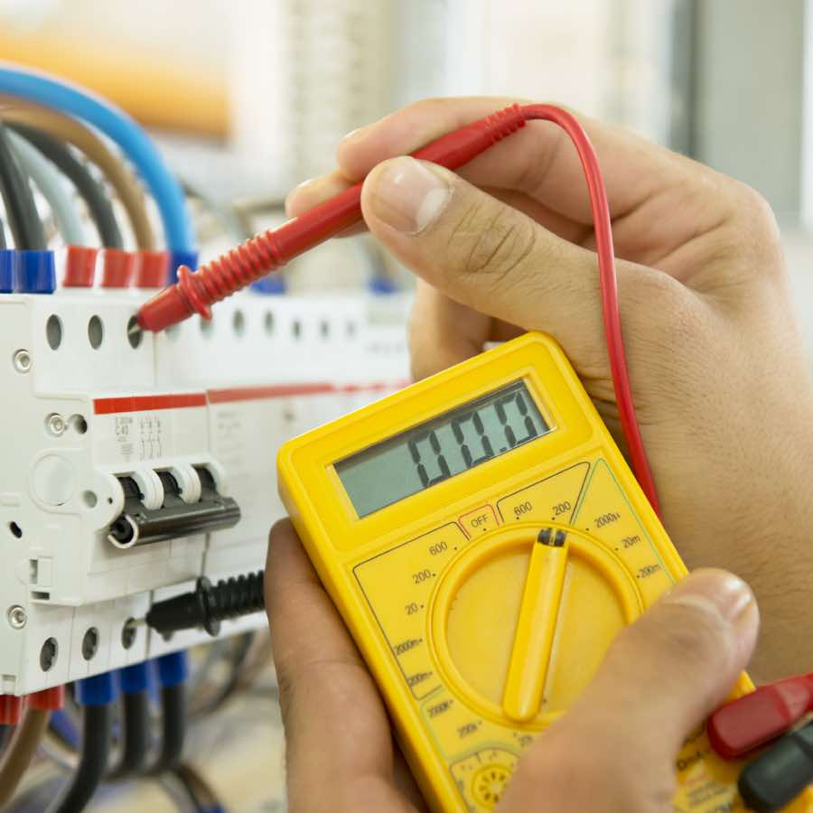 Bolt Electric technician fixing wiring issue in Jacksonville FL