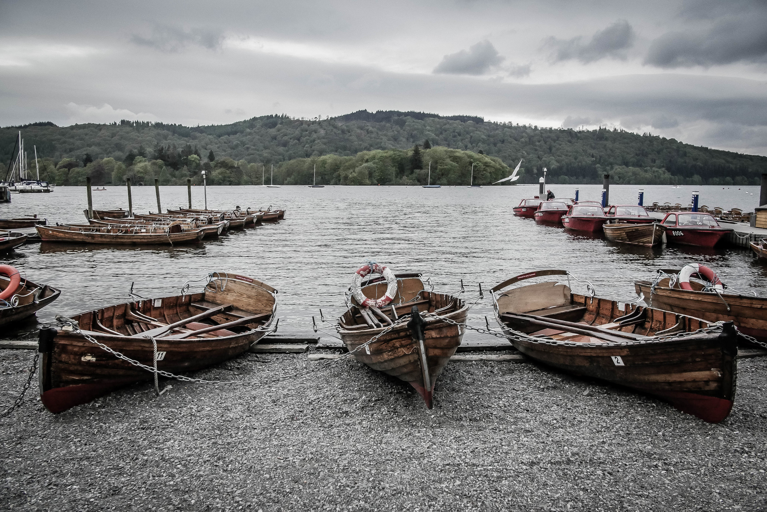 Rowing boats for hire on Lake Windermere