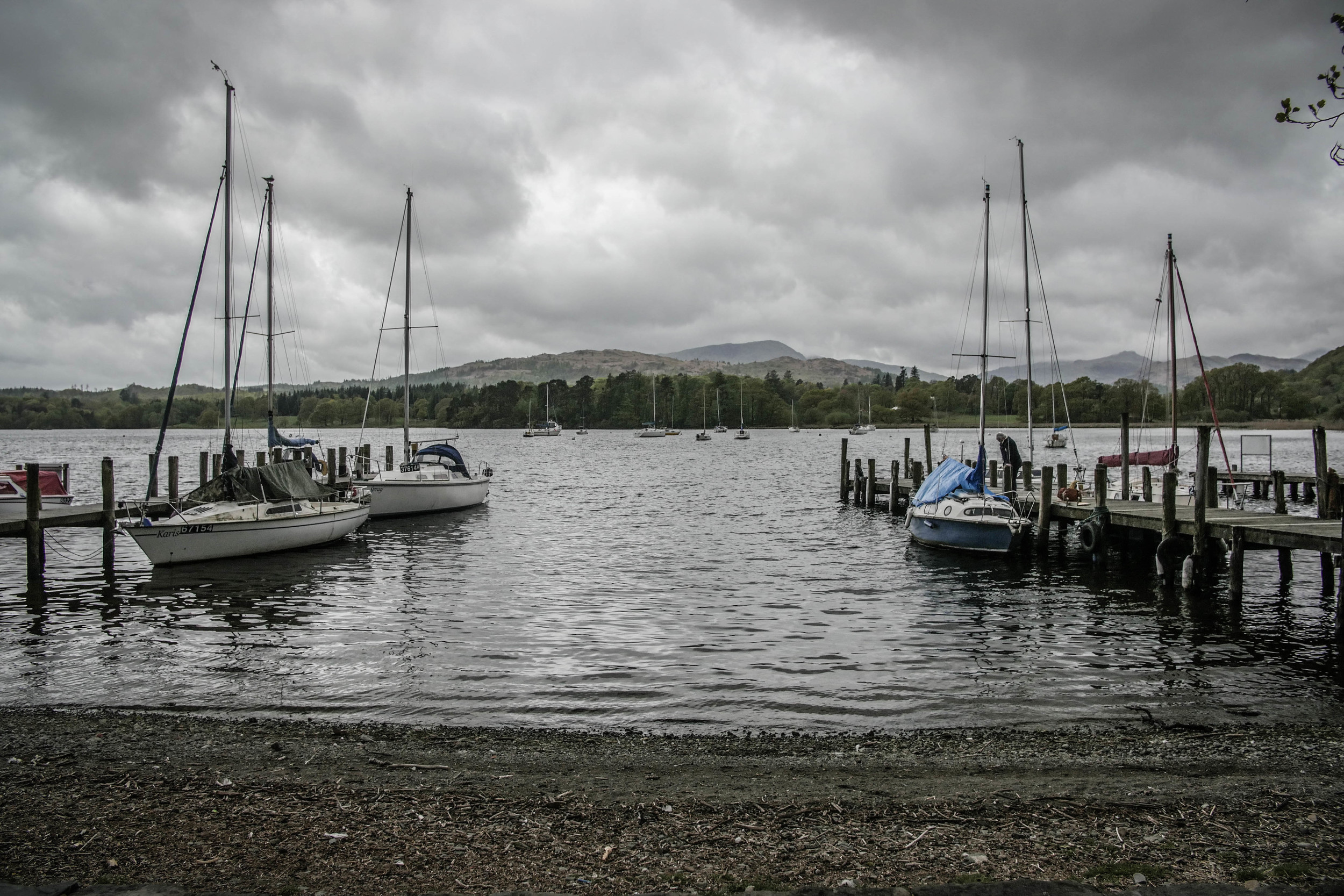 Sailing boats in Ambleside