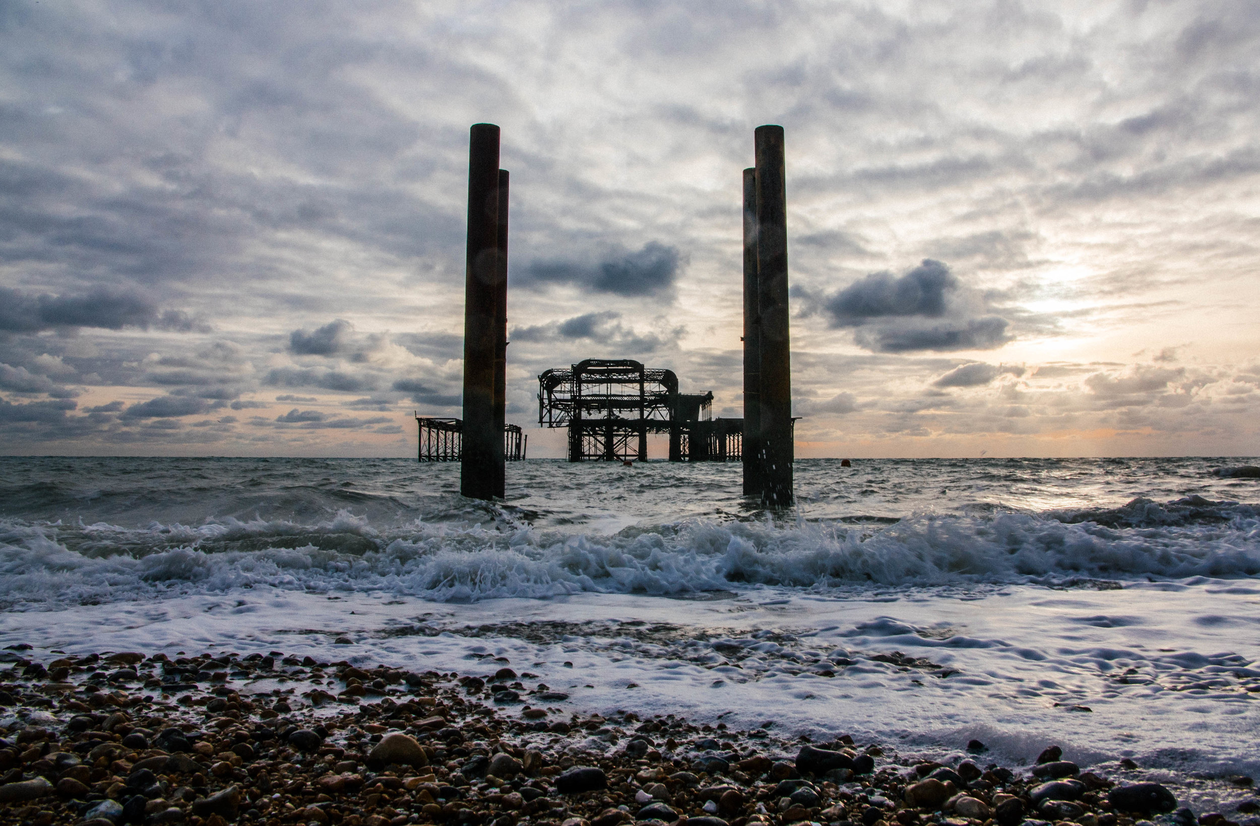 Waves on the West Pier
