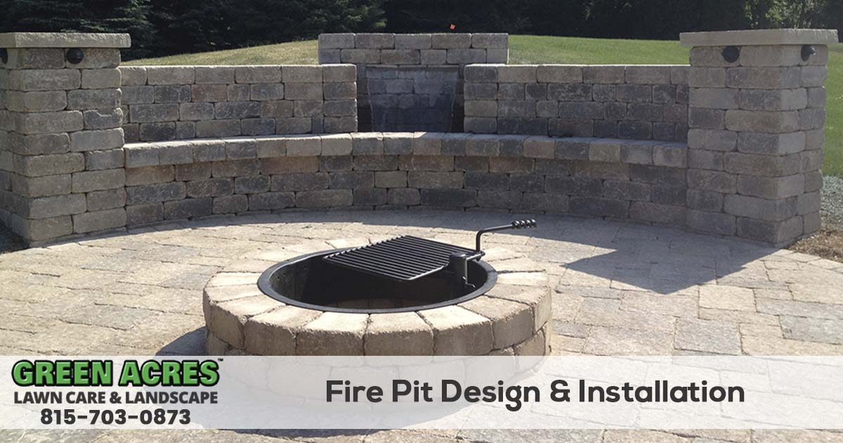 Firepit Installation Service in Northern Illinois - Fire Pit Installation - Green Acres Lawn Care & Landscaping Group