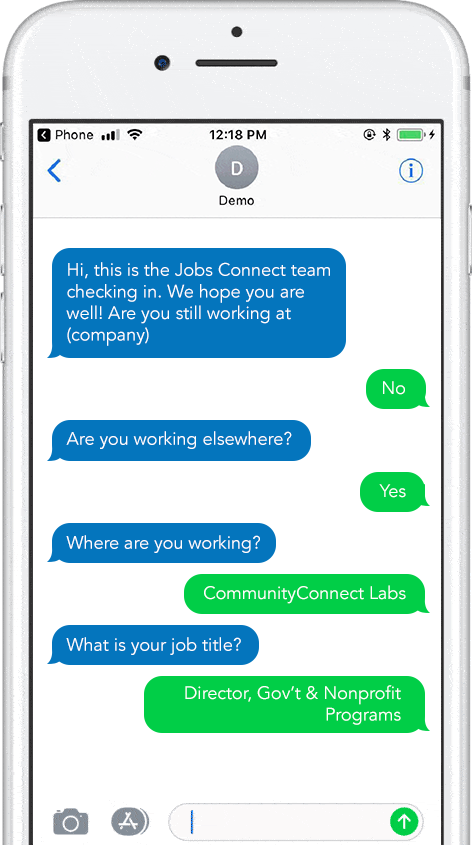 Recruitment and follow-up via texting