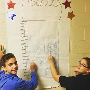 kids marking progress
