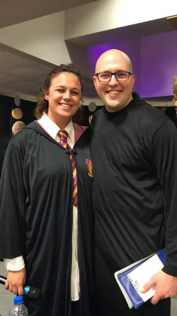 Cathedral parish members in Harry Potter costumes