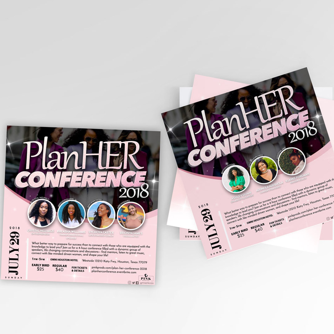 Pheelosophy - Pink Prods PlanHer Conference Branding