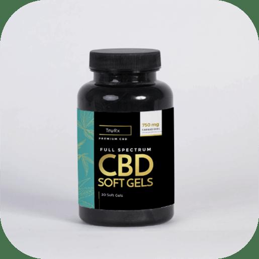 Pheelosophy - TruRx CBD Soft Gels Label Product Design