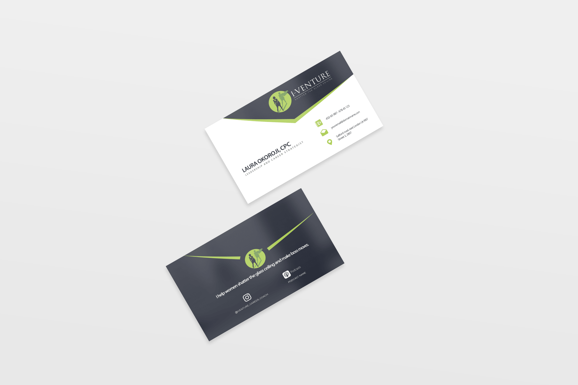 Pheelosophy - I-Venture Career Coaching Business Card Designs