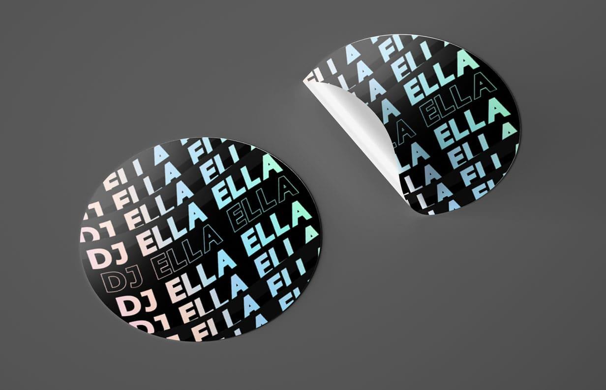 Pheelosophy - Dj Ella Ella Holographic Stickers