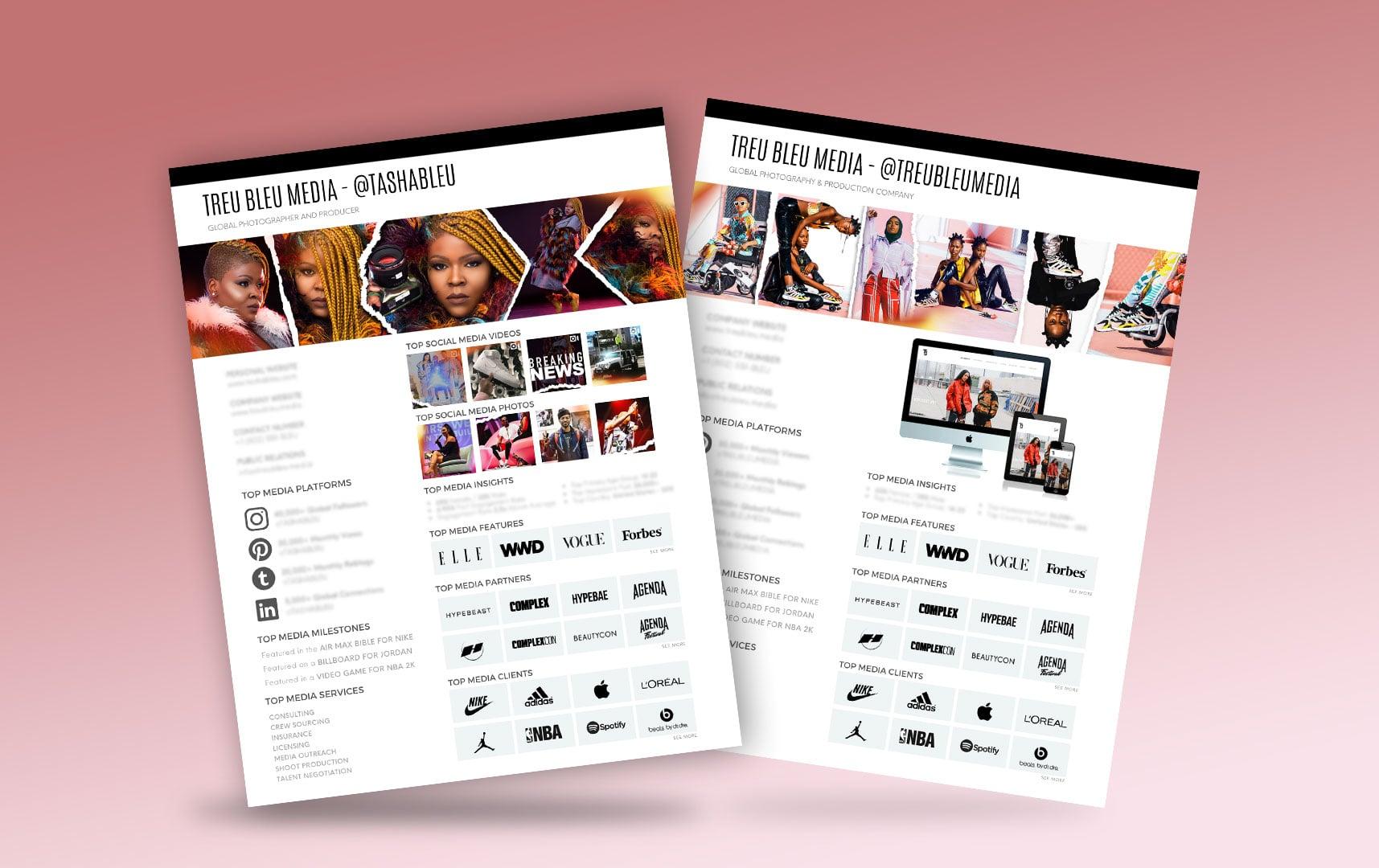 Tasha Bleu - Treu Bleu Media Kits