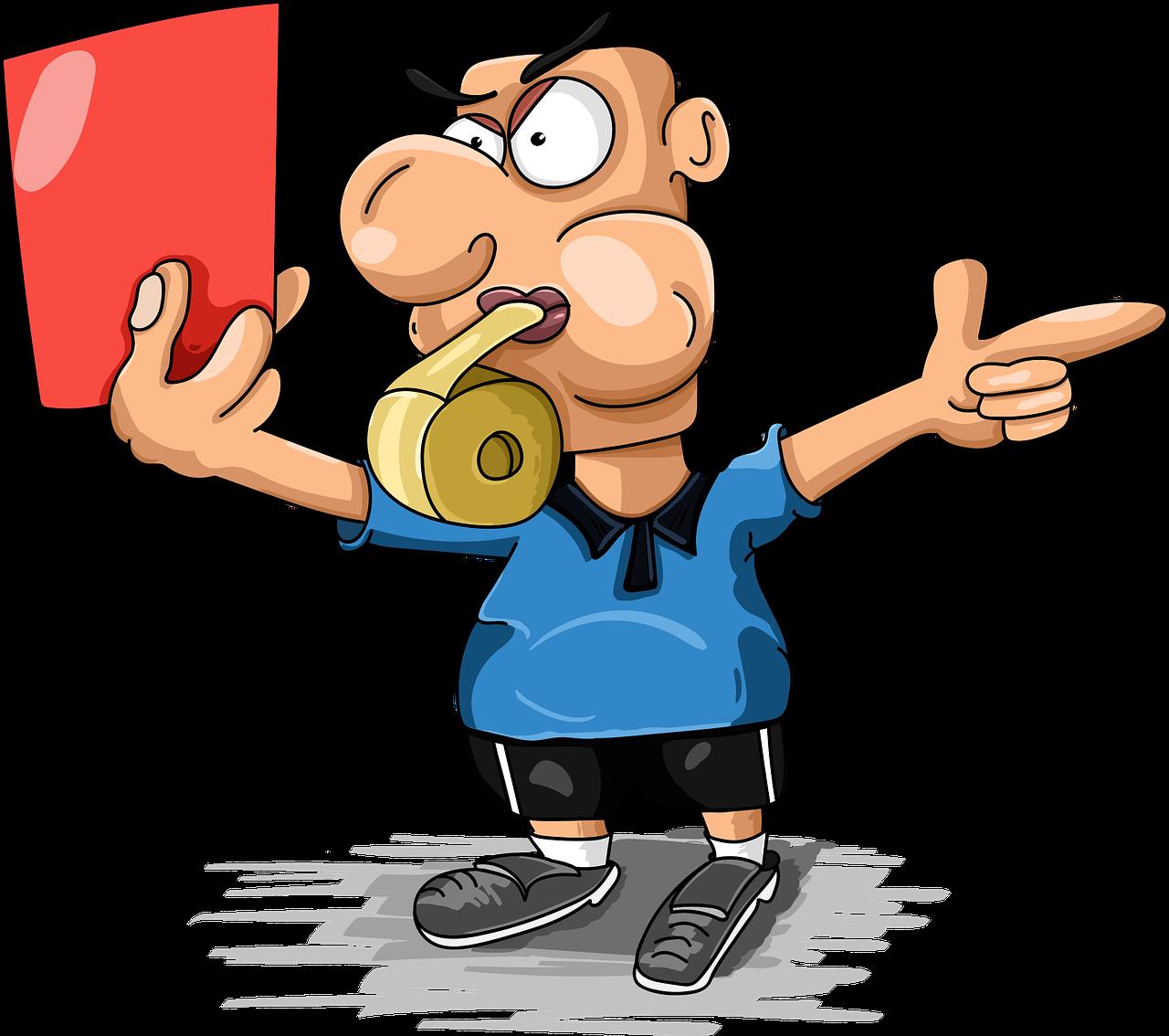 juíz, cartão vermelho, demissão, gameover