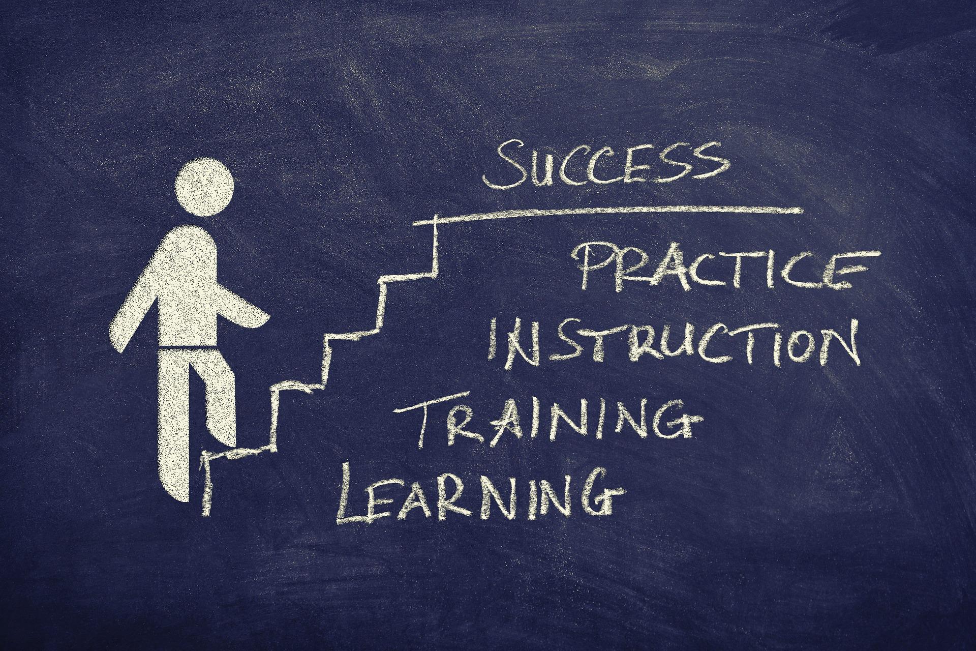 sucesso, carreira, treinamento, aprendizado