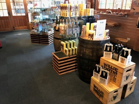 Tasmanian whiskies are among the special goodies available at the West Coast Wilderness Railway's gift shops at both Strahan and Queenstown