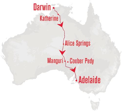 Ghan departing Darwin