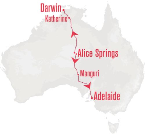 Ghan departing Alice Springs