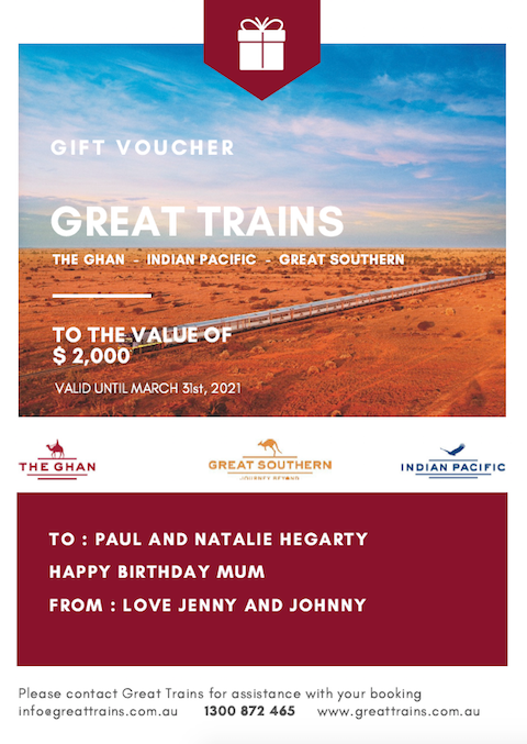 Great Trains Gift Voucher