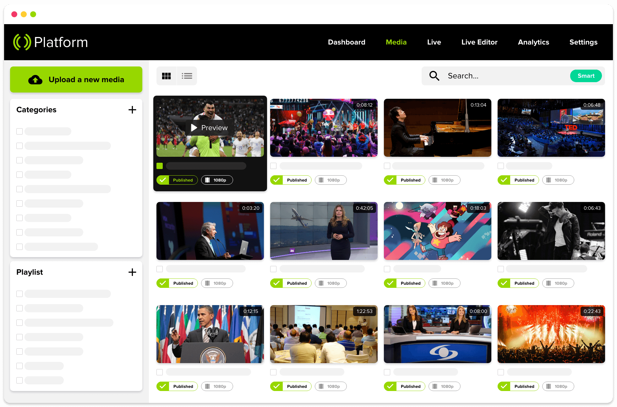 Mediastream Platform distribuye, monetiza y administra contenido de video digital.