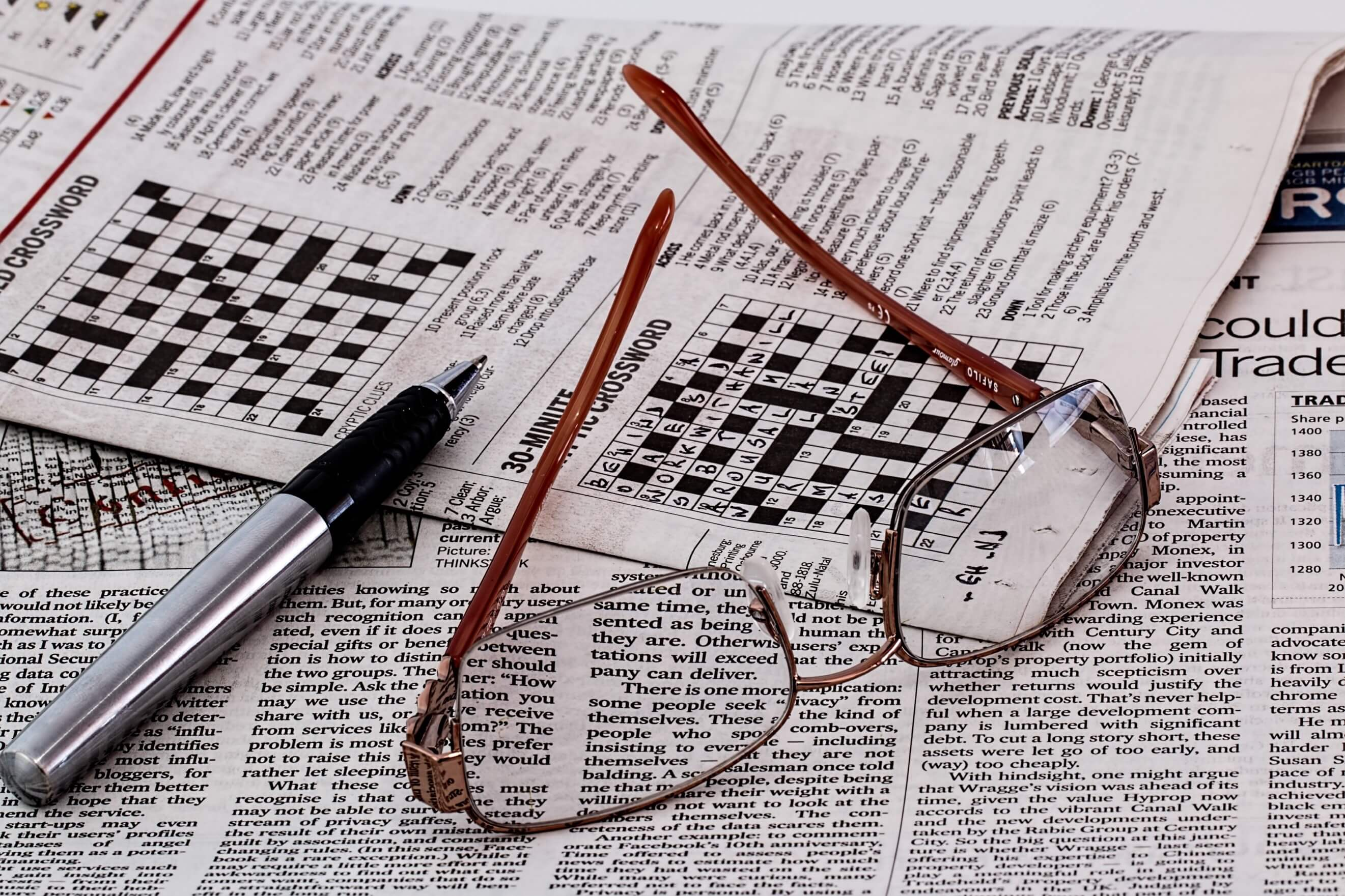 brain exercises for elderly crossword