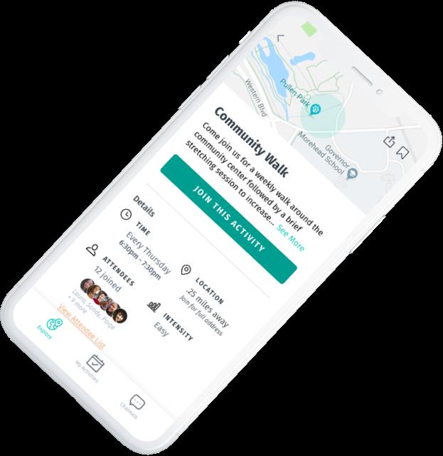 Screenshot of BeSpree app activity view.
