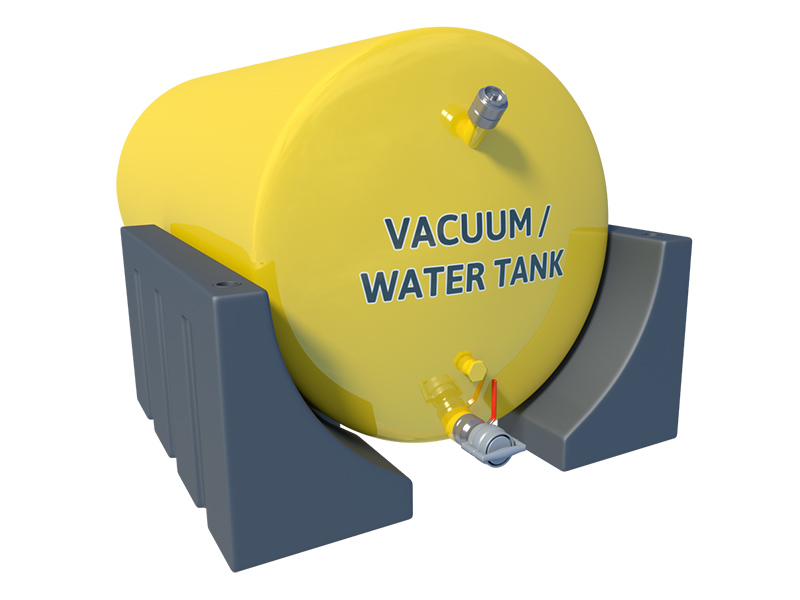 Wrap around vacuum tank