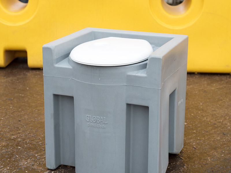 Commode Tank close up view