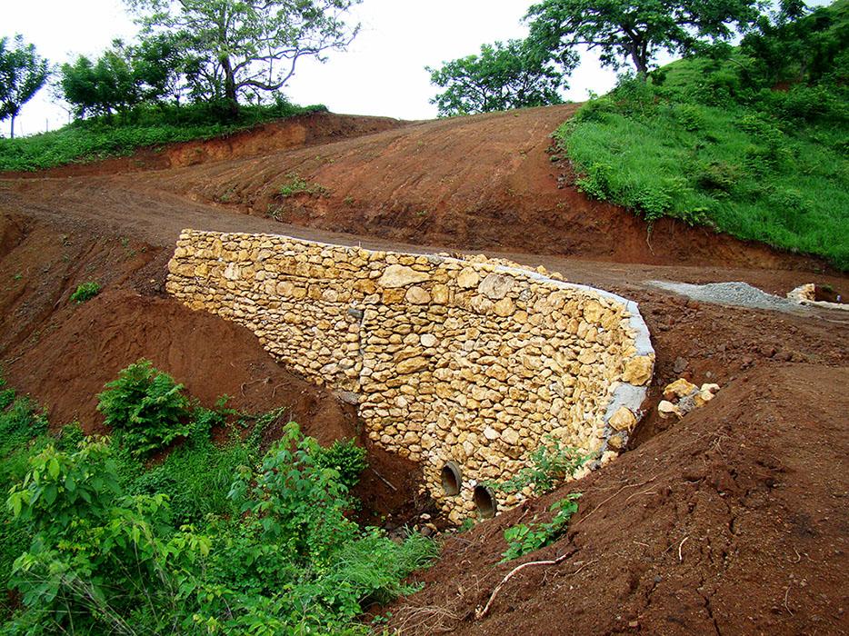 Roads and water drainage at Azur luxury eco-development Panama