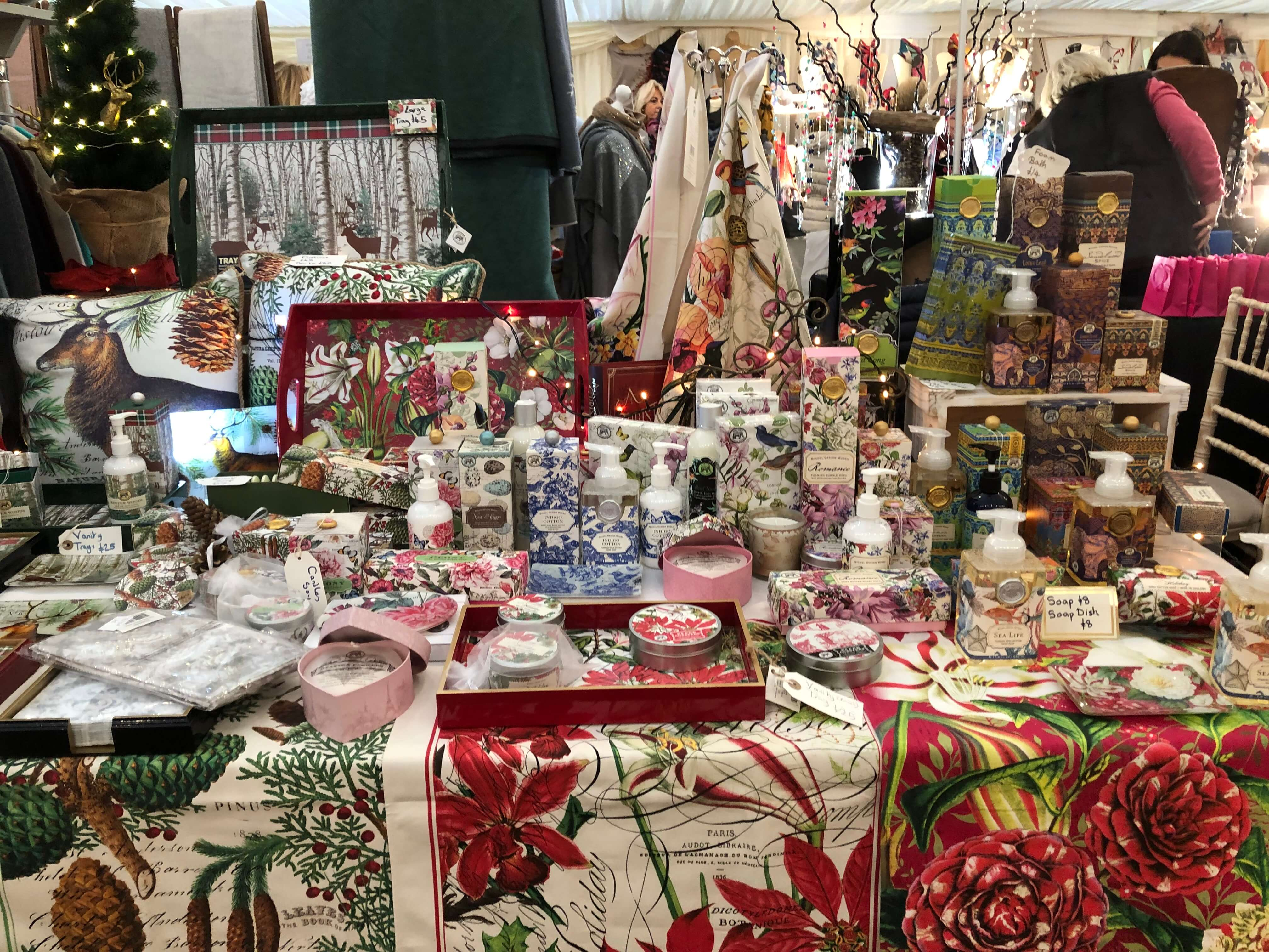 Christmas Stall at Beaufort Christmas  Fair
