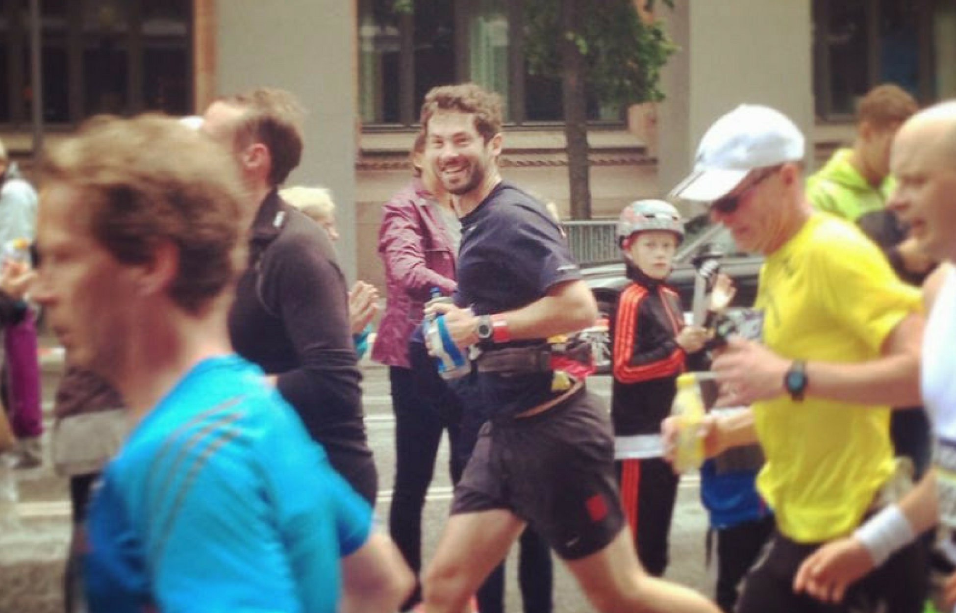 Reach Physio founder and CEO, James Read running in the Stockholm Marathon 2015