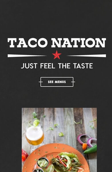 Taco Nation Mobile The Woodlands Web Design Page
