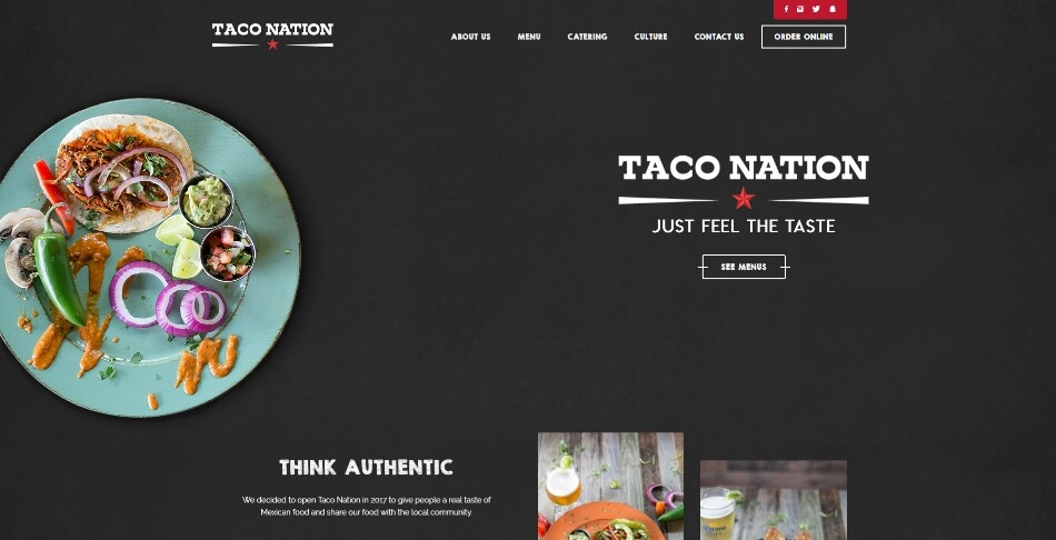 Taco Nation 10 keywords SEO in The Woodlands