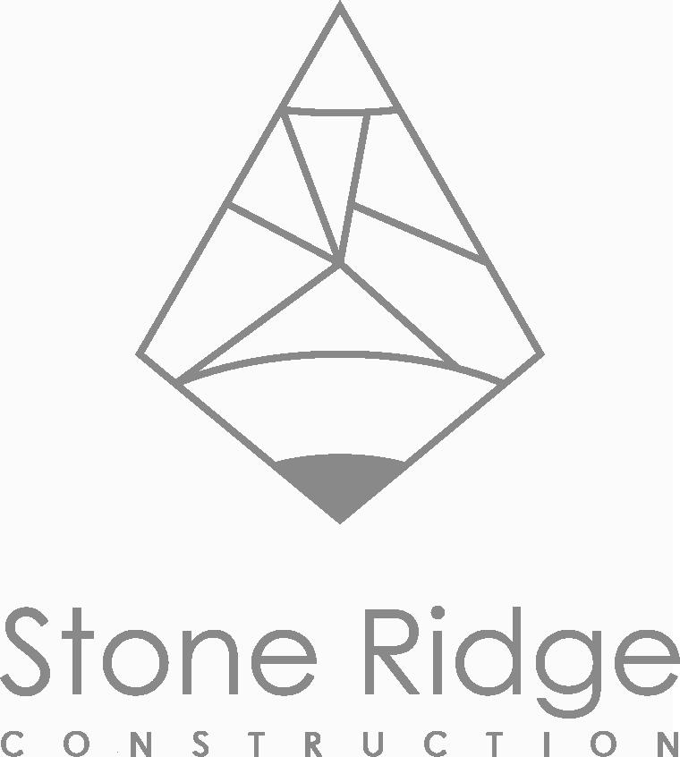 Stone Ridge Down Arrow White Logo Design in The Woodlands