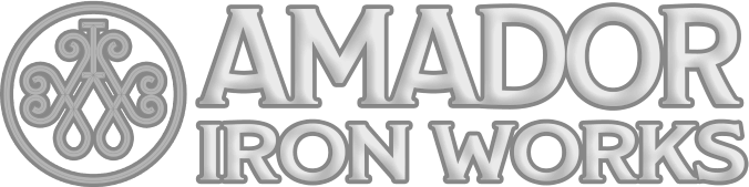 Amador Down Arrow White Logo Design in The Woodlands