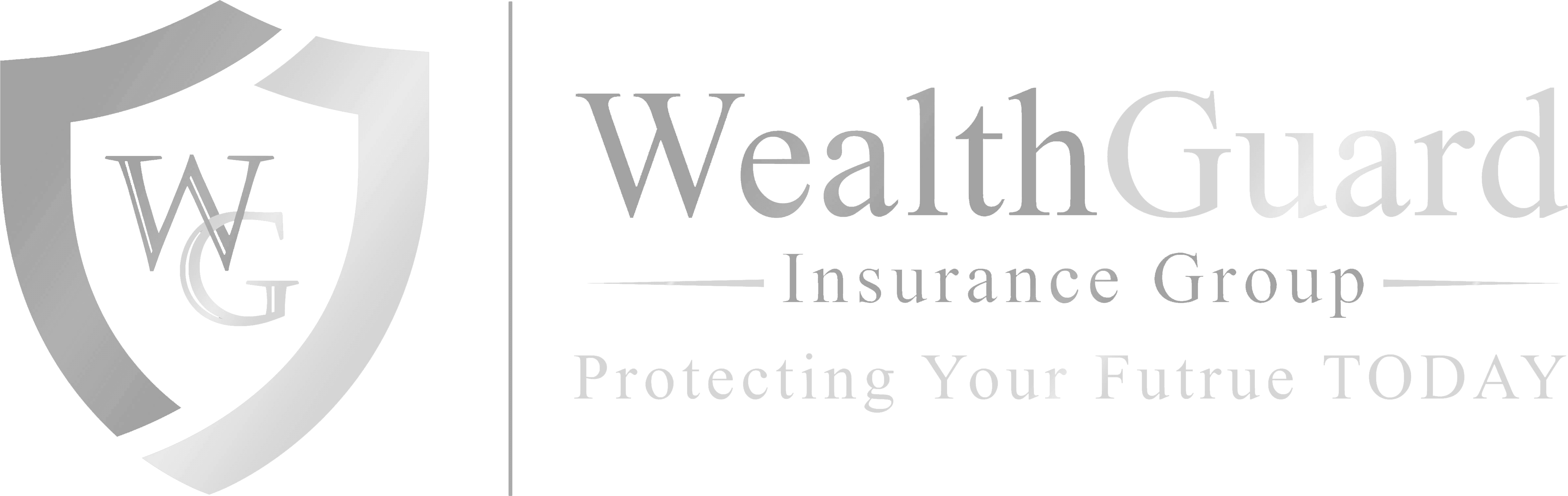 WealthGuard Down Arrow White Logo Design in The Woodlands