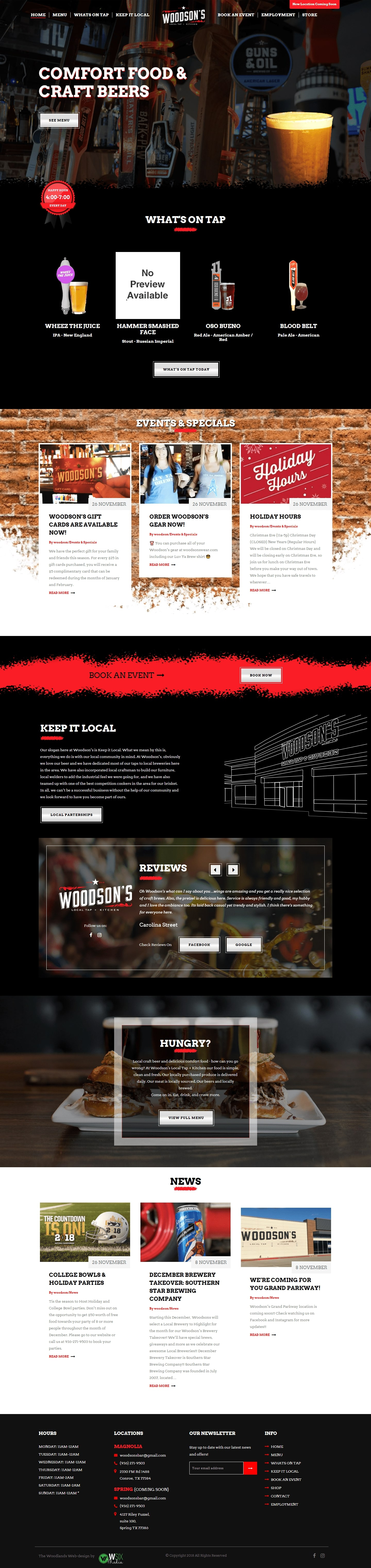 Woodsons The Woodlands Web Design Page