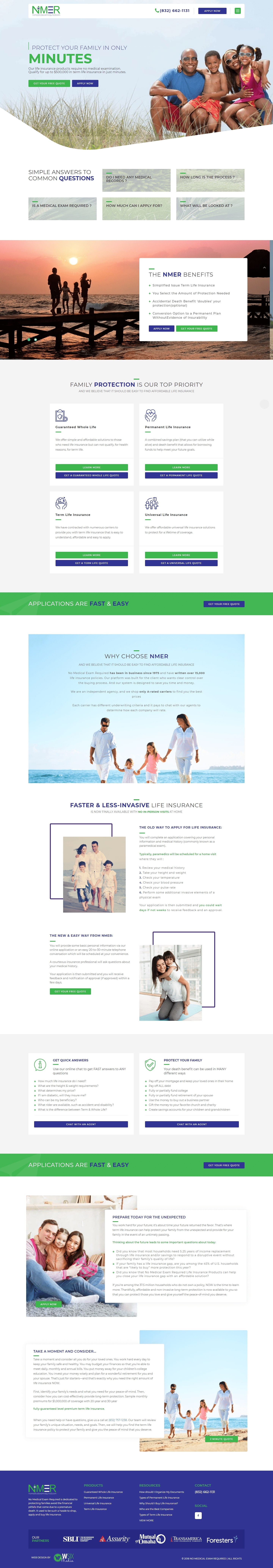 NMER The Woodlands Web Design Page